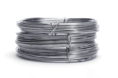 Stack of galvanized wires Royalty Free Stock Photography