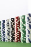 Stack Of Gambling Chips Stock Images