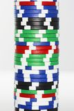 Stack Of Gambling Chips Royalty Free Stock Photos
