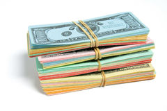 Stack of Game Banknotes Stock Images