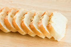 Stack of Garlic bread Stock Photo