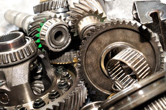 Stack of Gearbox parts. Stock Images