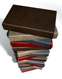 Stack Of Generic Leather Books Stock Image