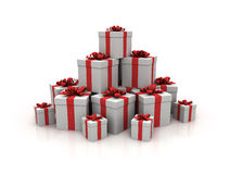Stack of gift boxes Royalty Free Stock Image