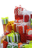 Stack of gift boxes Stock Photos