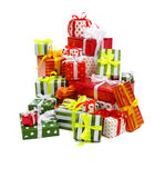 Stack of gift boxes Stock Image