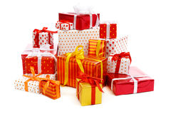 Stack of gift boxes Royalty Free Stock Photography
