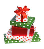 Stack of gift boxes Stock Images