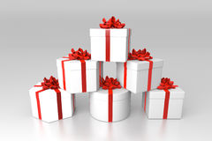 Stack of gift boxes. With studio lightning vector illustration