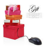 Stack of gift boxes Stock Photography
