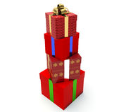 Stack of gift boxes. stock illustration