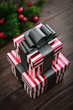 Stack of gift boxes Royalty Free Stock Photo