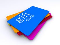 Stack of gift cards Stock Photo