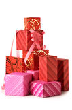 Stack of gifts Stock Images