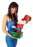 Stack of gifts Royalty Free Stock Photography