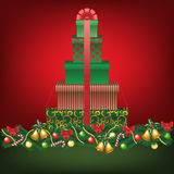 Stack of gifts shapped tree Royalty Free Stock Photography