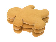 Stack of gingerbread men on a white background Stock Images