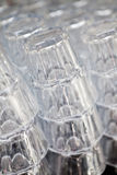 Stack of glass Royalty Free Stock Photography