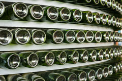 Stack of glass bottle Stock Photo