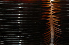 Stack of glass plates Stock Image