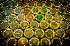 Stack of glass texture background Royalty Free Stock Photo