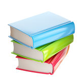 Stack of glossy colorful books Royalty Free Stock Photography