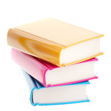 Stack of glossy colorful books Stock Image