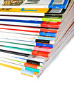Stack of glossy magazines Stock Images