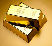 Stack of gold bar, ambient financial concept stock photography