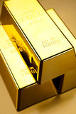 Stack of gold bars, ambient financial concept Royalty Free Stock Photography