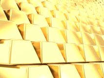 Stack of gold bars background Stock Photography