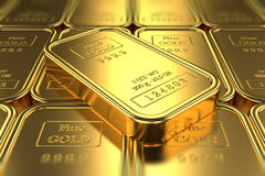 Stack of gold bars Royalty Free Stock Photo