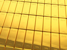 Stack of gold bars Stock Photography