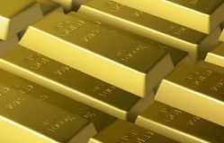 Stack of gold bars Royalty Free Stock Image