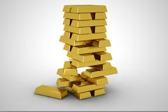 Stack of gold Stock Photo