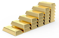Stack of Gold bars. On a white background royalty free illustration