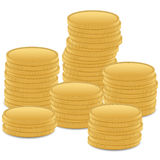 Stack gold coin Stock Image