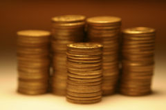 Stack of gold coin Stock Images