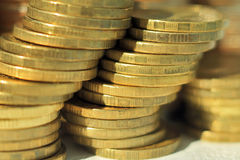 A stack of gold coins Stock Image