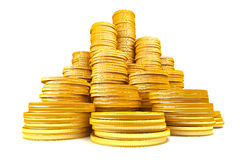 Stack of gold coins Stock Photo