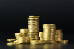 Stack of gold coins Stock Images