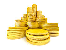 Stack of gold coins Royalty Free Stock Photos