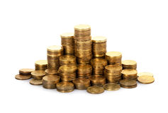 The stack of gold coins Royalty Free Stock Images