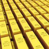 Stack of golden bars Stock Photos