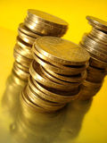 Stack of golden coins Royalty Free Stock Image