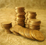 Stack of golden coins Royalty Free Stock Photography