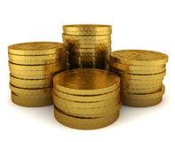 Stack of golden coins Stock Photo