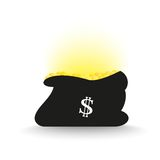 Stack of golden coins flat icon. For design in the economic sources Royalty Free Stock Photography