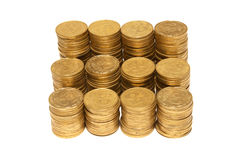 Stack of golden coins Stock Image