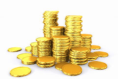 Stack of golden coins. Stock Photography